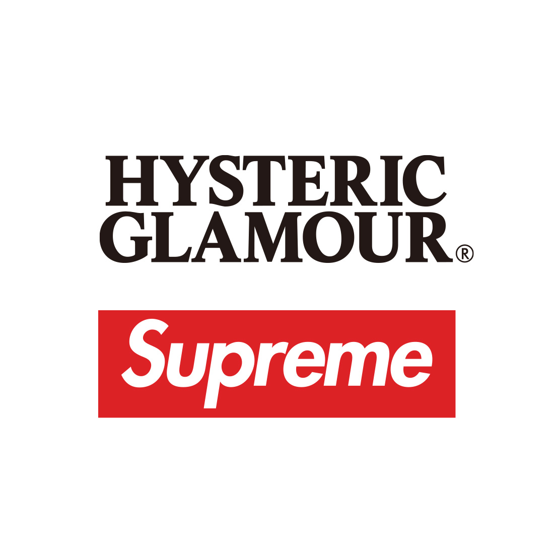 Supreme × HYSTERIC GLAMOUR