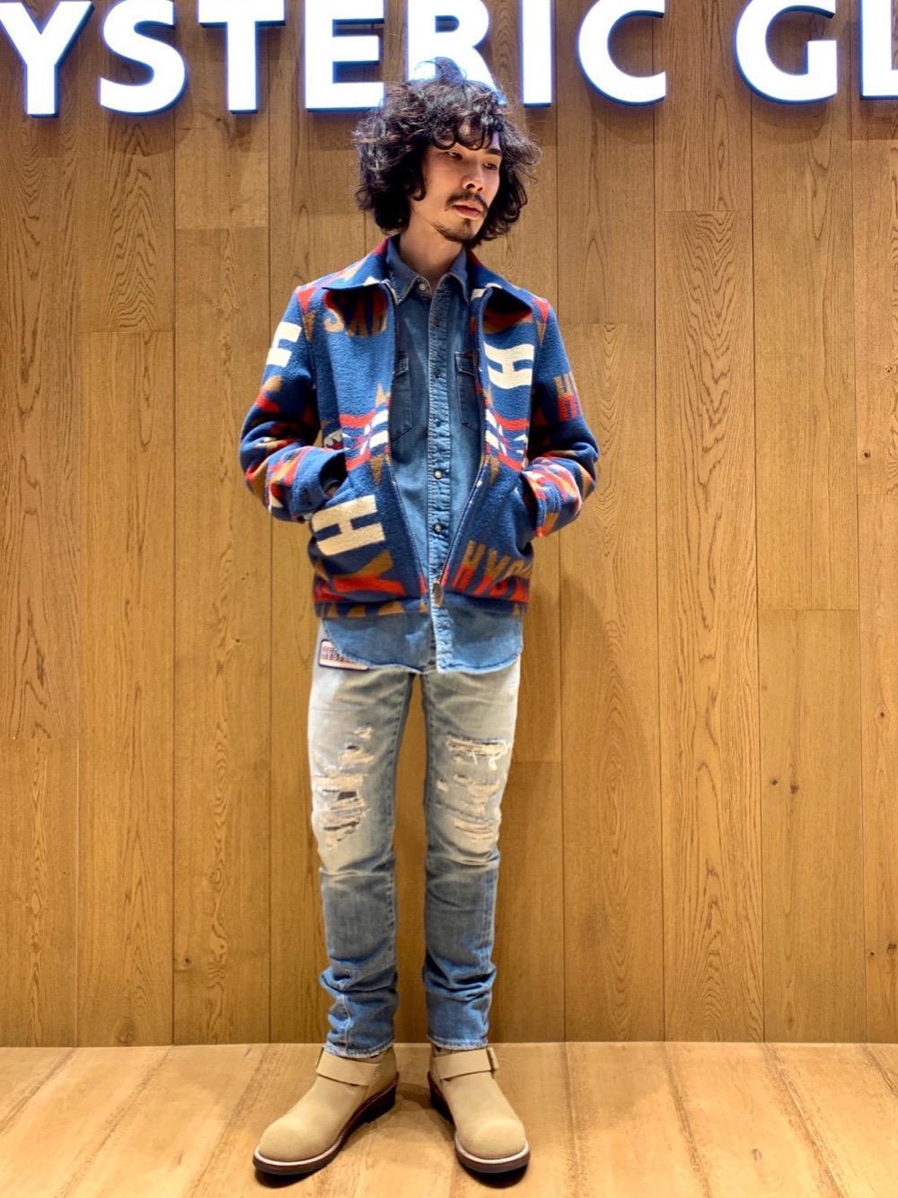 ネイティブ柄ウールジャケット