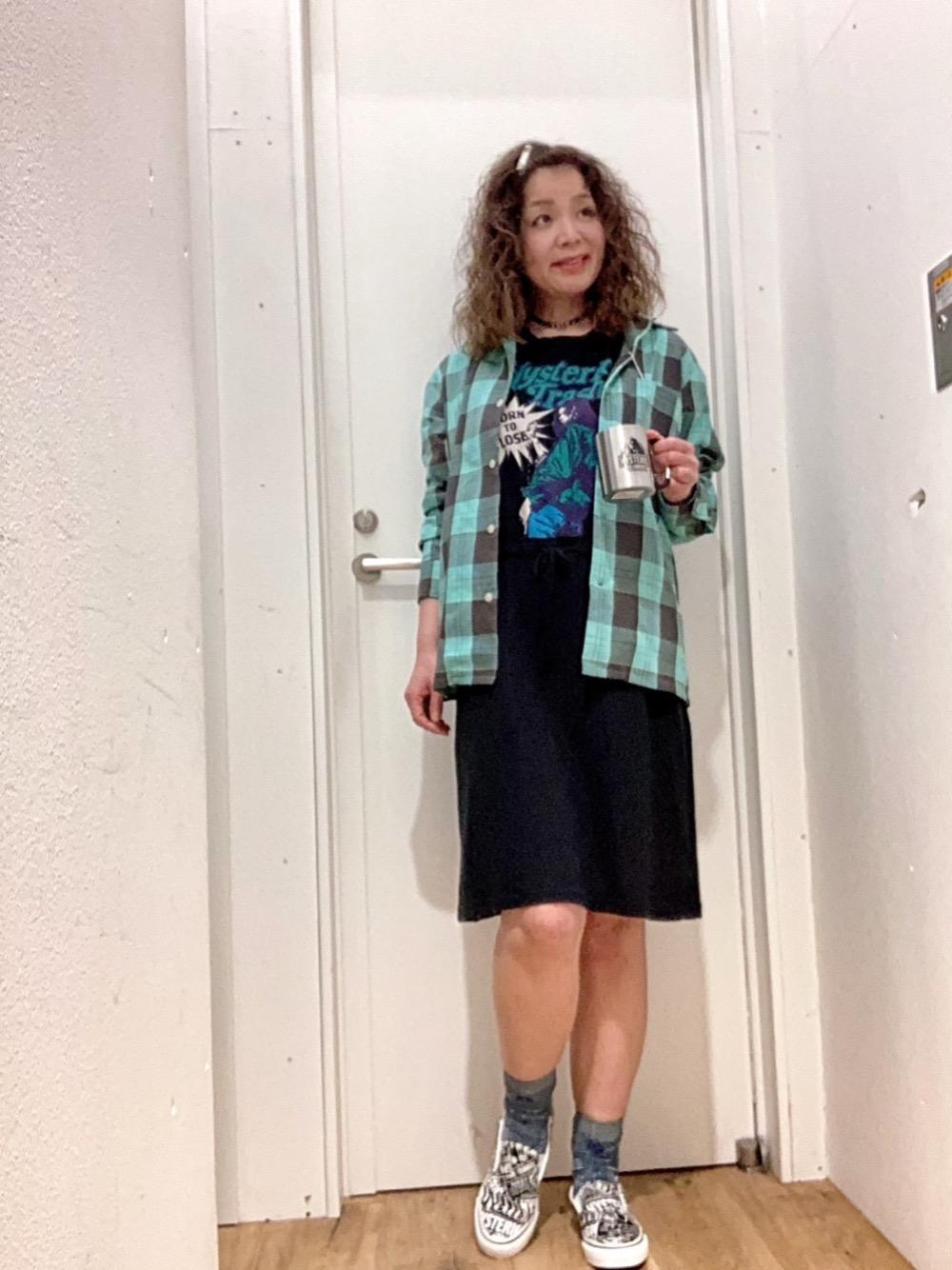 ワンピ×メンズシャツ