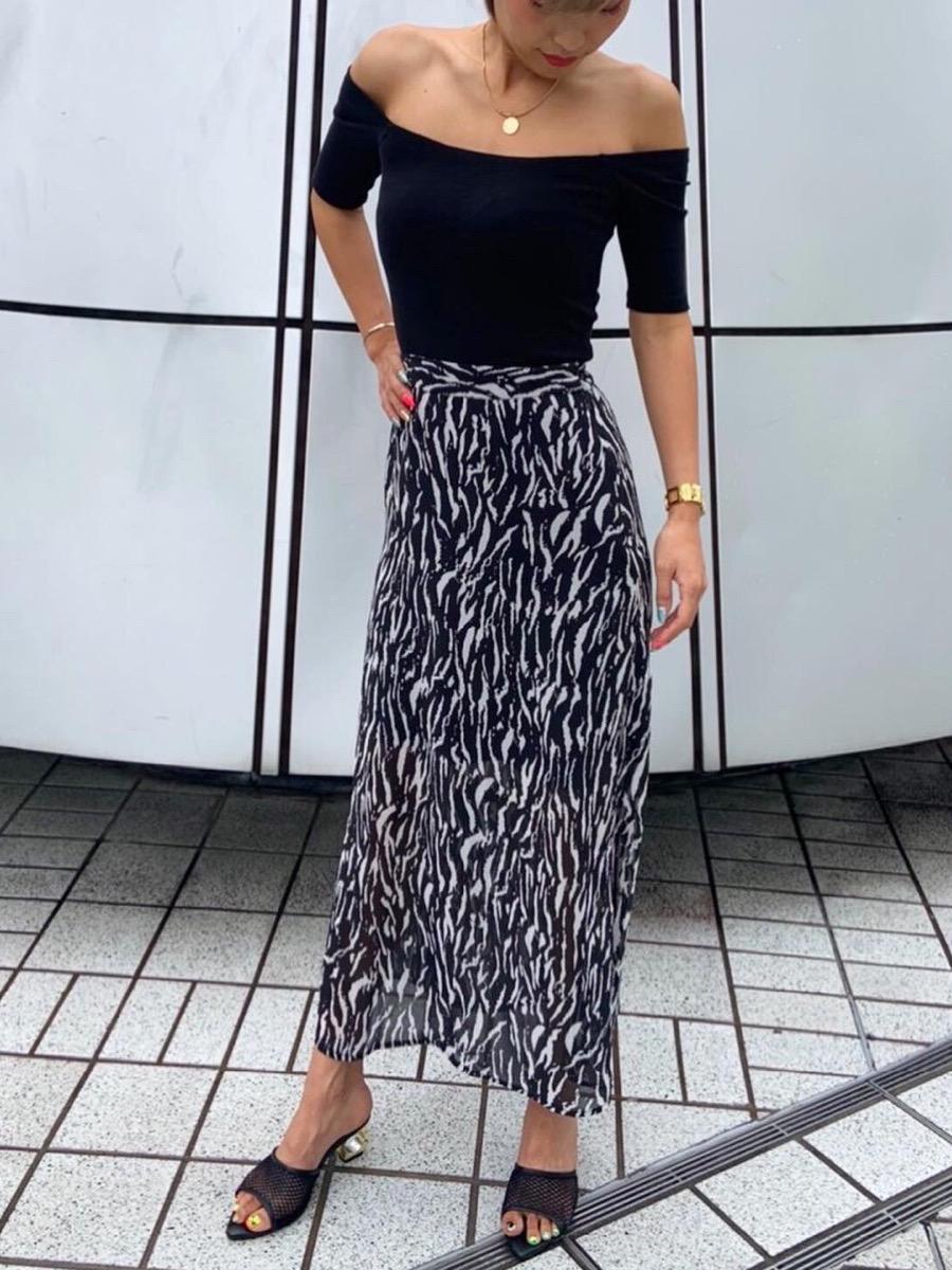 Aラインシースルースカート
