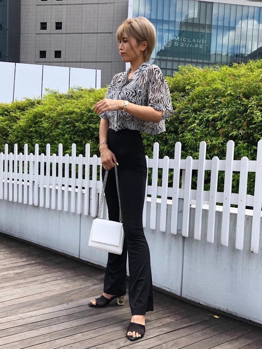 ゼブラ柄シアーシャツ