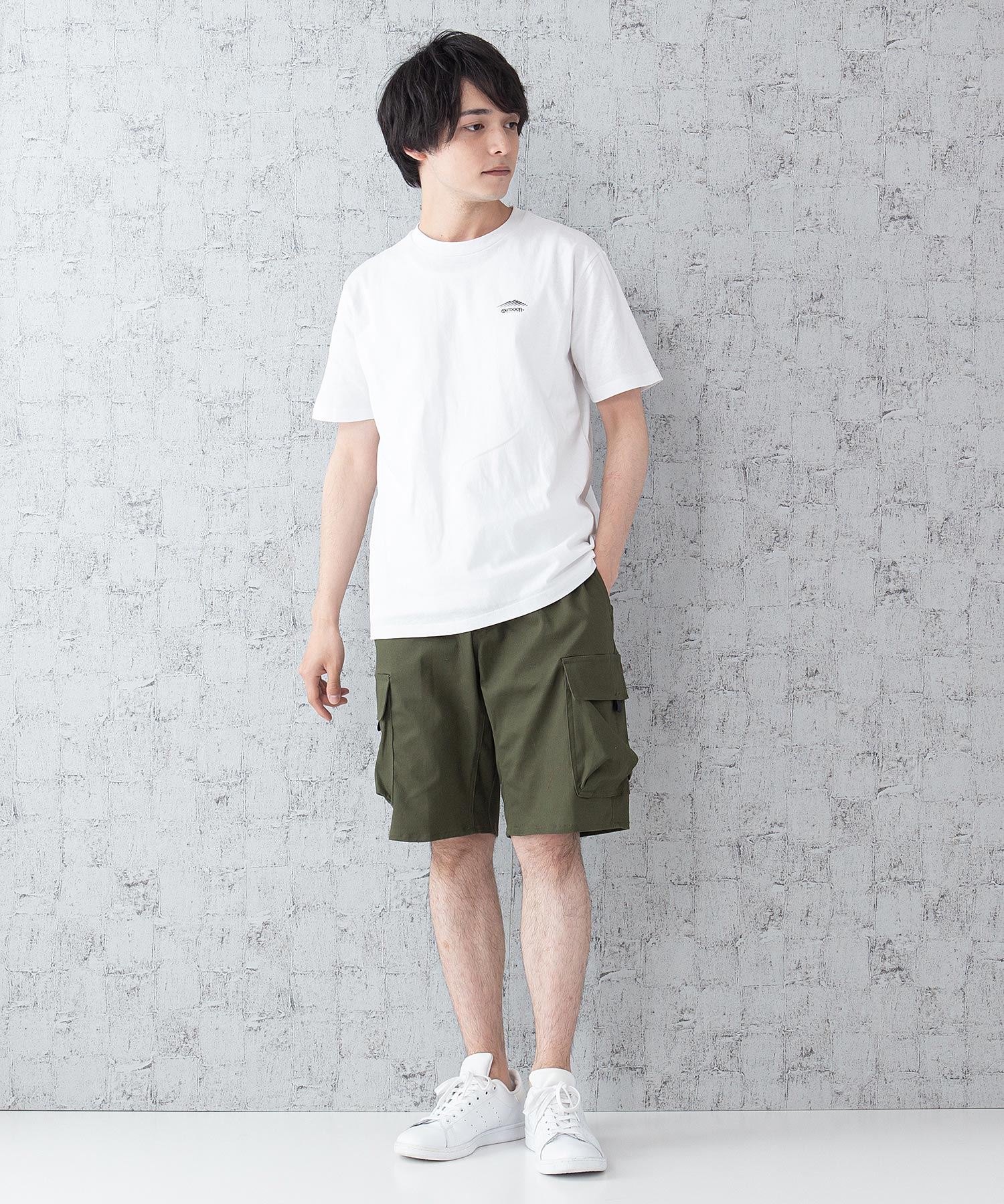 OUTDOOR PRODUCTS APPAREL 防シワポンチボタンカーディガン