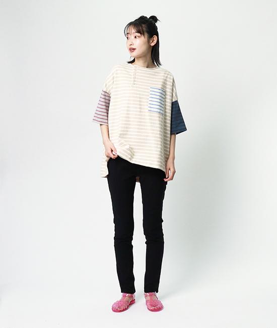 ビンテージライクなボーダーTシャツ