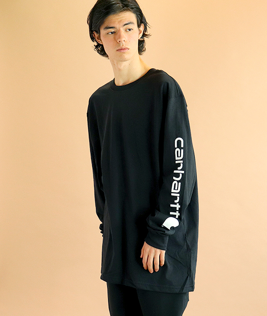 【carhartt/カーハート】Signature Sleeve Logo Long-Sleeve T-Shirts