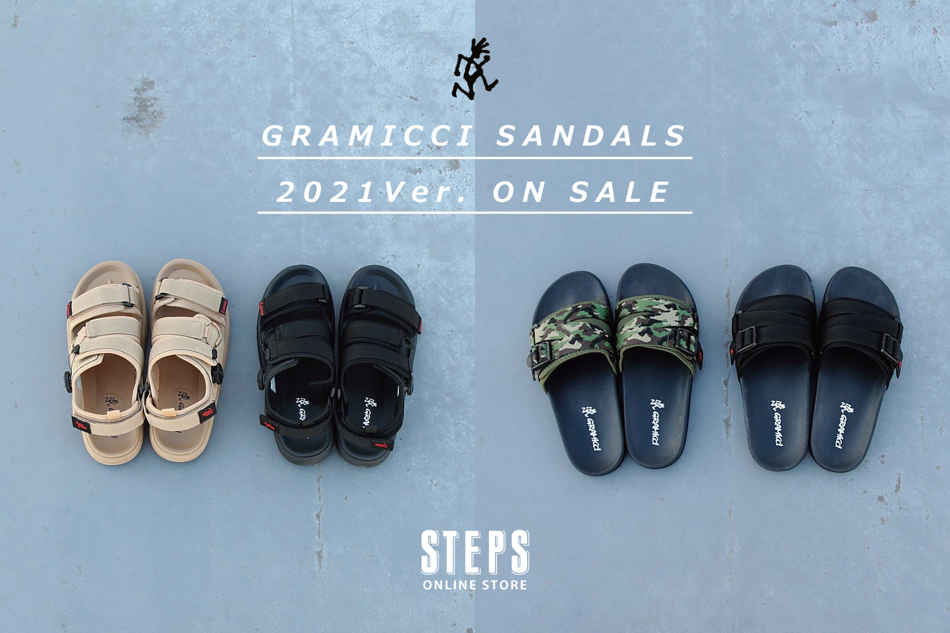 GRAMICCI SANDALES 2021Ver. ON SALE!!