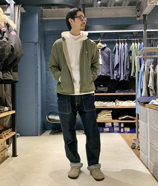 インサレーションジャケット×デニム
