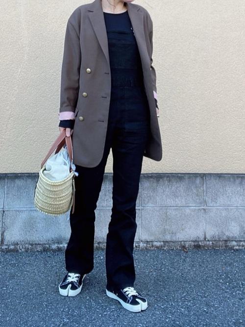 ダブルミディジャケット(オーバーサイズ紺ブレ)