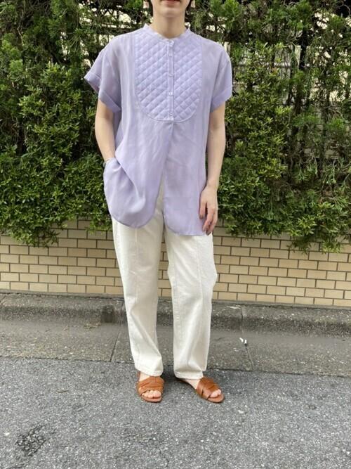 キルティングボザムシャツ