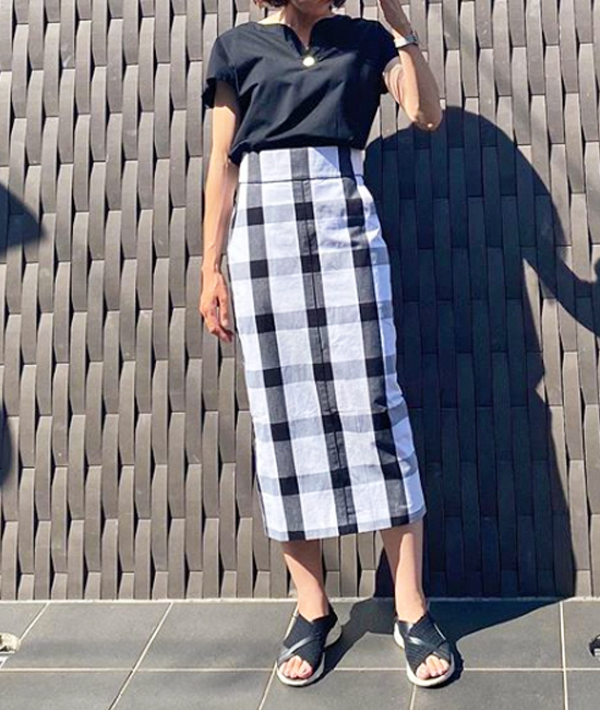 【 Emma Taylor 】ビッグギンガムスカート