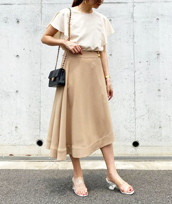【Emma Taylor】アシメトリーヘムフレアスカート