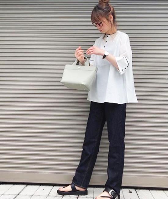 【Emma Taylor】2フェイスパイピングフレアブラウス