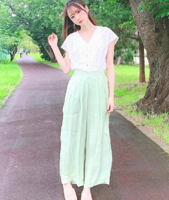 【CIENA】シャイニーワイドパンツ