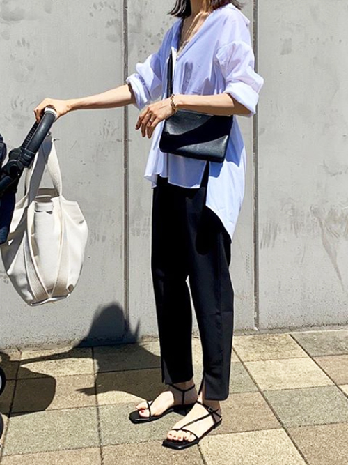 【Emma Taylor】フロントスリットイージーパンツ