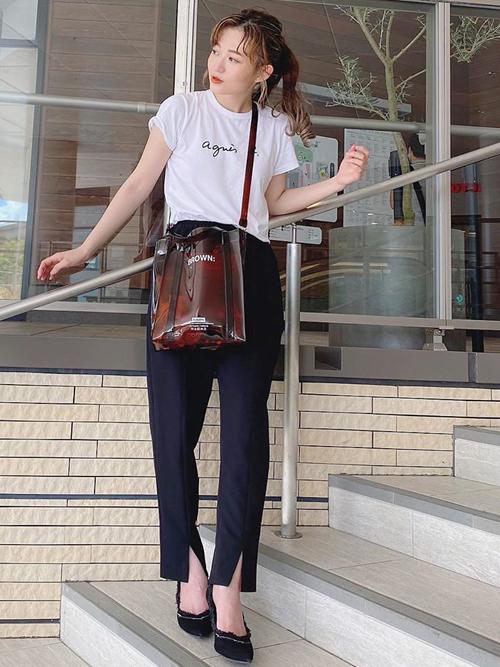 【Emma Taylor】  フロントスリットイージーパンツ