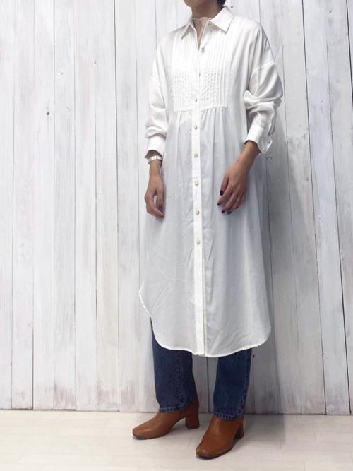 【Emma Taylor】ピンタックシャツドレス