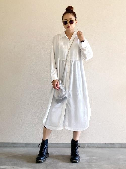 【Emma Taylor】  ピンタックシャツドレス