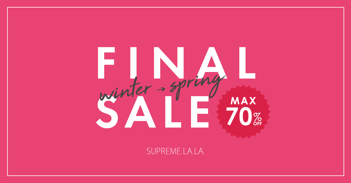 【MAX70%OFF】FINAL SALE