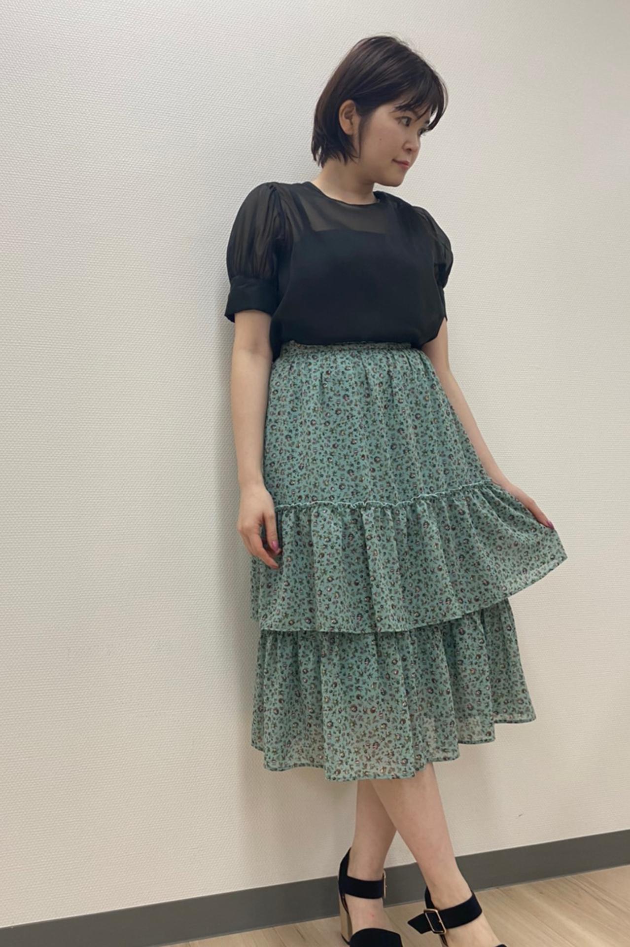 オリジナル小花柄スカート
