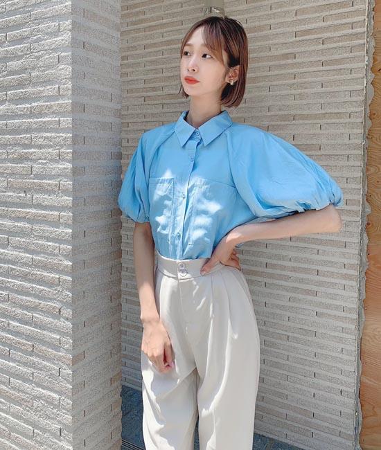 韓国風のカジュアルガーリーコーデ